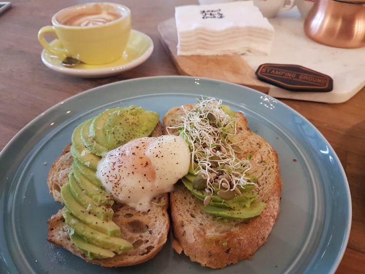 Stamping Ground Coffee Avocado Toast