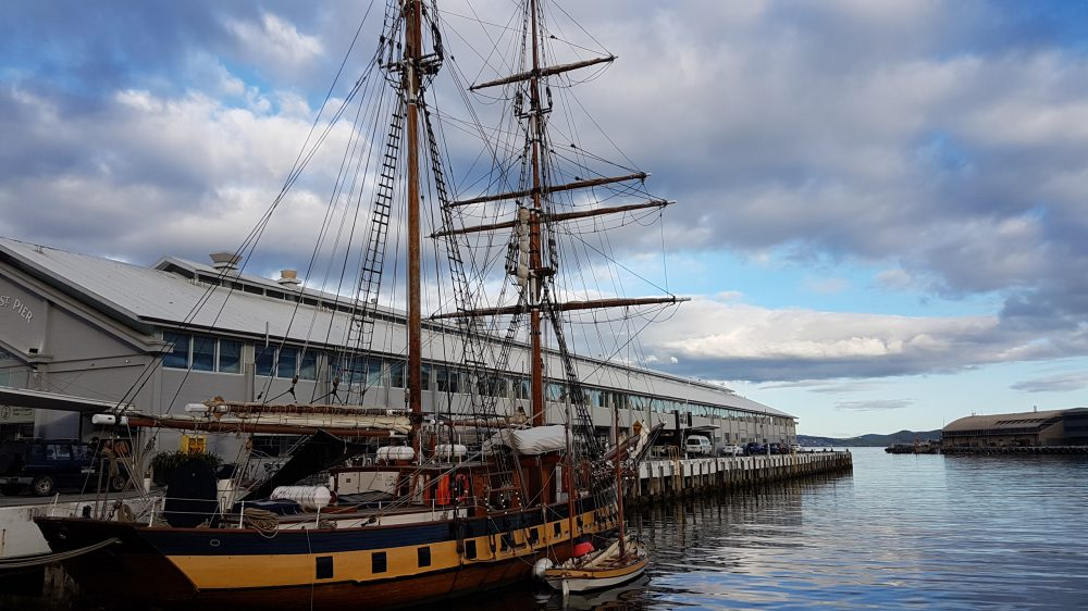 Hobart harbour nice ship view