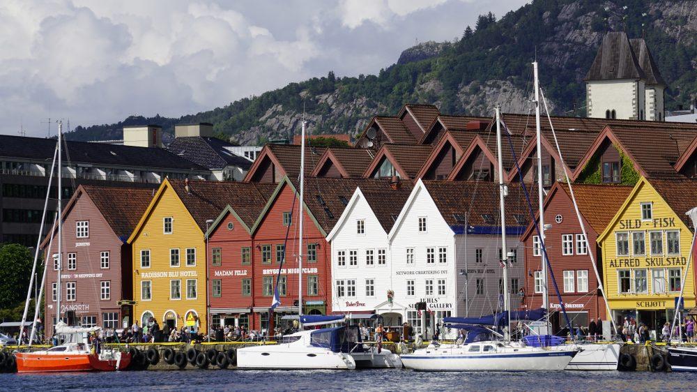 Bergen view of Bryggen